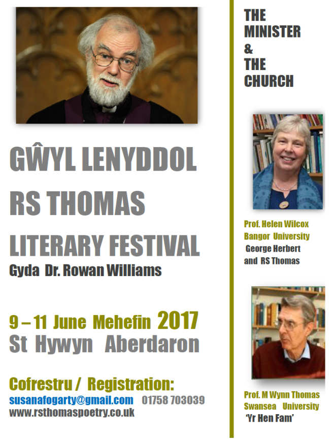 RS Thomas Literary Festival - Gŵyl Lenyddol RS Thomas 2017